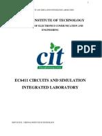 Ec6411 EC II Lab Manual 2013