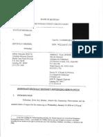 Brinker's sentencing memo