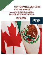 XX Reunión Interparlamentaria México-Canadá