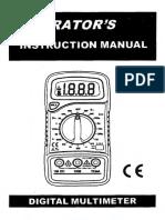Multimeter Instructions Manual