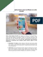 NP_Las Mejores Aplicaciones Para Tu iPhone en Este Verano