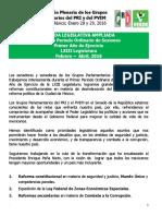 Agenda Legislativa PRI-PVEM VIII  Reunión Plenaria
