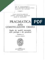 Paul Watzlawick - Pragmatica Della Comunicazione Umana