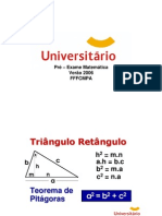 Matemática - Trigonometria - Universitário - Dicas fffcmpa 2006