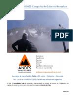 ANDES EXPEDICIONES - Ascenso Al Cerro Adolfo Calle 4200 Msnm – Mendoza