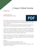 Hidden Dangers of Snoring