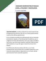 Geología, unidades morfoestructurales (geomorfología), litología y edafología