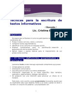 Técnicas Para La Escritura de Textos Informativos
