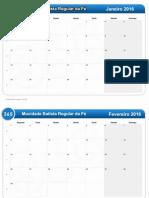 Calendario IBR Mocidade