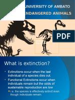Extinctions Animals