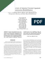 ACL Reconstruction Rehabilitation