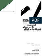 Guide Pour Les Nouveaux Professeurs Comment Négocier Le Salaire de Départ PDF