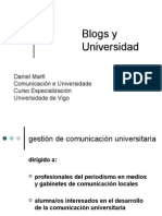 blogs  y universidad