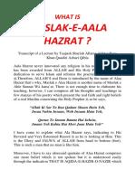 What is Maslak e Ala Hazrat