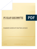 Solar Panel Lamination Acceptability Guidelines