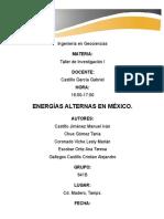 Proyecto Energías Alternas en México