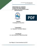 Portafolio Investigación Educativa