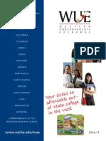 Western Undergraduate Exchange (WUE) Handout