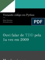 Testando Código Em Python