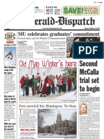 Front Page — The Herald-Dispatch, Dec. 6, 2009