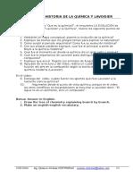 1a.taller1.La Historia de La Quimica y Lavoisier