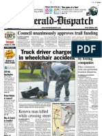 Front page — The Herald-Dispatch, Oct. 27, 2009