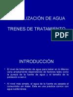 Trenes de tratamiento (potabilización de agua)