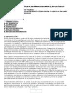 Proyecto, Construcción de Planta Procesadora de Cítricos