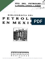 Bibliografía Del Petróleo en México