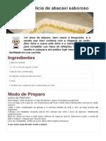 Copie a Receita de Delícia de Abacaxi Saboroso - Receitas Supreme
