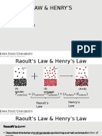 Raoults & Henry's Law