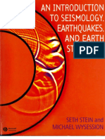 An Introduction to Seismology Earthquakes and Earth Structure Stein and Wysession Blackwell 2003 130924133040 Phpapp01