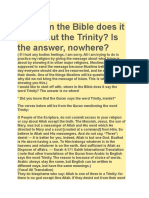 where in the bible does it talk about the trinity religion