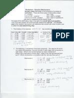 Worksheet-Reaction Mechanism Answers