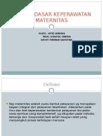 Konsep Dasar Keperawatan Maternitas 2