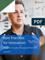 Microsoft Innovation Framework With NewsGator