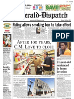 Front Page — The Herald-Dispatch, March 5, 2010