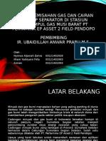 Proses Pemisahan Gas Dan Cairan Pada Hp Separator