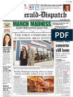 Front Page — The Herald-Dispatch, March 15, 2010