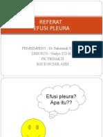171974443 Ppt Efusi Pleura
