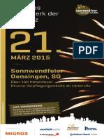 Feuerwerk Veranstaltung Sonnwendfeier Oensingen