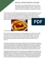 Contenidos Y Recetas De La Octava Clase De La Escuela