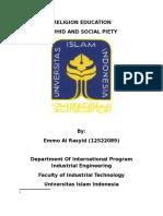 Propsosal of Religion Education (Autosaved)