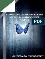 Communication Systems MATLAB Assignment - Akshansh