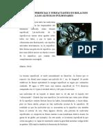Tension Superficial y Surfactantes en Relacion a Los Alveolos Pulmonares