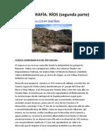 Hidrografía. Rios (segunda Parte)