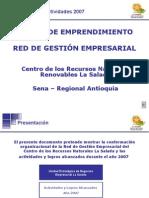 Informe Unidad de Emprendimiento Sena La Salada  2007