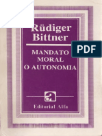Bittner, Rudiger- Mandato Moral o Autonomia