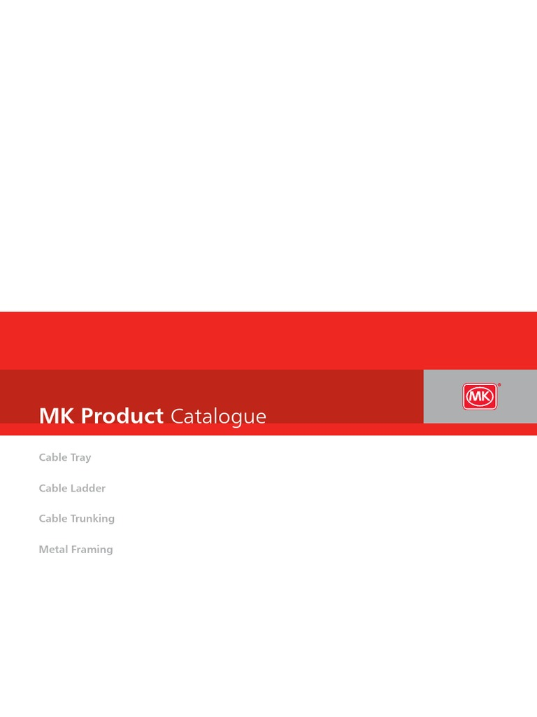 Mk Electric Cable Tray Brochure Middle East Galvanization Wiring Devices Aspect