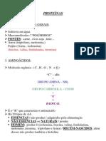 Biologia - Resumo Proteínas
